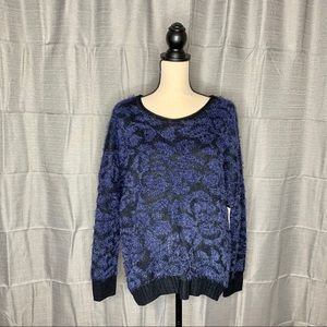 14th & Union - Fuzzy Jacquard Knit Sweater